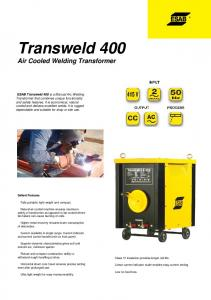 Transweld 400 answeld 400 - ESAB India Limited