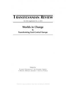 transylvanian review - SSRN papers