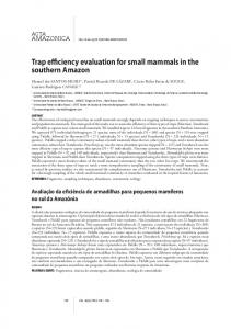 Trap efficiency evaluation for small mammals in the ... - Acta Amazonica