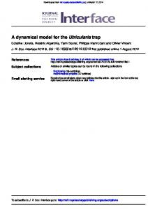 trap Utricularia A dynamical model for the