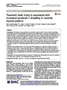 Traumatic brain injury is associated with increased