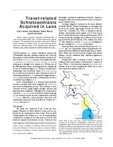 Travel-related Schistosomiasis Acquired in Laos - Centers for Disease ...