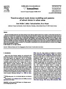 Travel-to-school mode choice modelling and patterns of ... - CiteSeerX