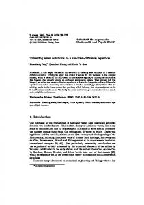 Traveling wave solutions to a reaction-diffusion equation | SpringerLink