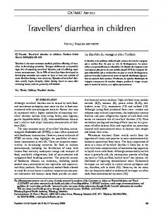 Travellers' diarrhea in children