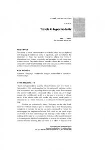 Travels in hypermodality - SAGE Journals - Sage Publications