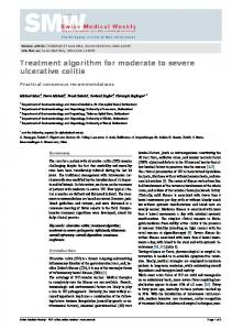 Treatment algorithm for moderate to severe ulcerative colitis - IBDnet