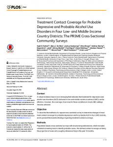 Treatment Contact Coverage for Probable ... - Semantic Scholar