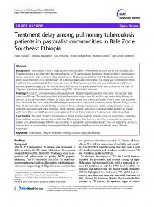 Treatment delay among pulmonary tuberculosis ... - BioMedSearch