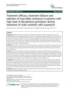Treatment efficacy, treatment failures and selection of ... - CiteSeerX