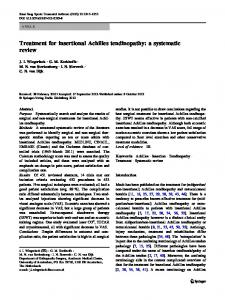 Treatment for insertional Achilles tendinopathy: a systematic review