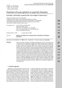 Treatment of acute agitation in psychotic disorders