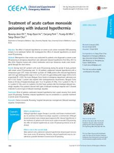 Treatment of acute carbon monoxide poisoning with induced ...
