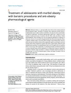 Treatment of adolescents with morbid obesity with ...