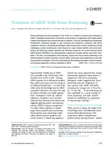 Treatment of ARDS With Prone Positioning - CHEST Journal