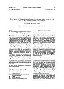 TREaTMEnT of CoMPlICaTEd InTRa-abdoMInal ... - Springer Link