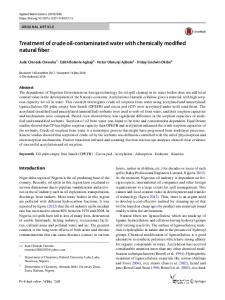 Treatment of crude oil-contaminated water with
