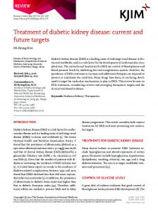 Treatment of diabetic kidney disease - The Korean Journal of Internal ...