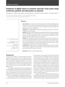 Treatment of digital ulcers in systemic sclerosis - SciELO
