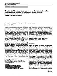 Treatment of domestic wastewater in an up-flow anaerobic sludge ...