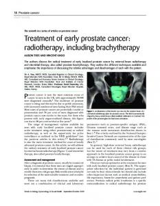 Treatment of early prostate cancer - Wiley Online Library