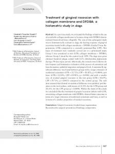 Treatment of gingival recession with collagen membrane and ... - SciELO