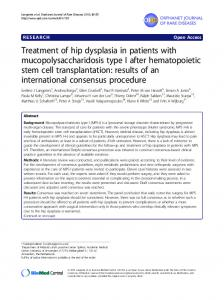 Treatment of hip dysplasia in patients with mucopolysaccharidosis ...