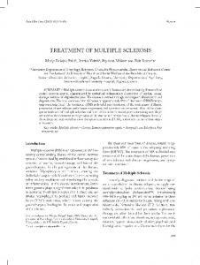 TREATMENT OF MULTIPLE SCLEROSIS