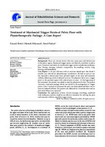 Treatment of Myofascial Trigger Points of Pelvic Floor ...