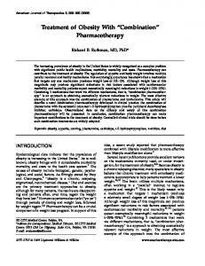 Treatment of Obesity With ''Combination''Pharmacotherapy