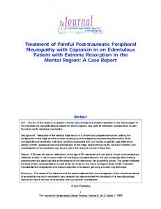 Treatment of Painful Post-traumatic Peripheral ... - Jaypee Journals