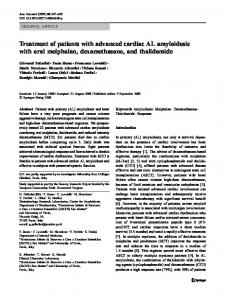 Treatment of patients with advanced cardiac AL ... - Springer Link