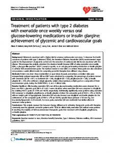 Treatment of patients with type 2 diabetes with ... - Springer Link