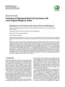 Treatment of Pigmented Basal Cell Carcinoma with 3 mm Surgical ...