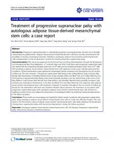 Treatment of progressive supranuclear palsy with ... - BioMedSearch
