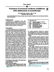 Treatment of recurrent erythema multiforme with ... - JAAD Case Reports