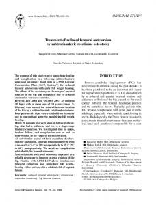 Treatment of reduced femoral antetorsion by subtrochanteric rotational ...