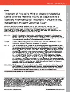 Treatment of Relapsing Mild-to-Moderate Ulcerative ...