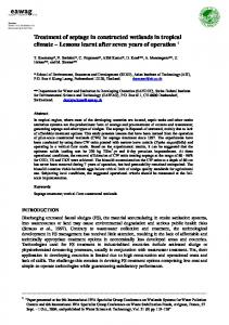 Treatment of septage in constructed wetlands in tropical climate ...