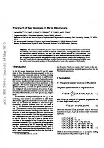 Treatment of Two Nucleons in Three Dimensions