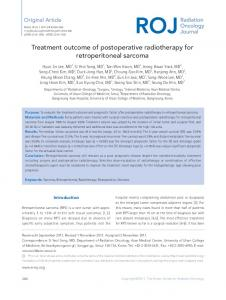 Treatment outcome of postoperative radiotherapy for ...
