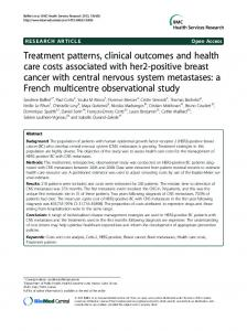 Treatment patterns, clinical outcomes and health care costs ...