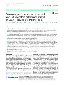 Treatment patterns, resource use and costs of