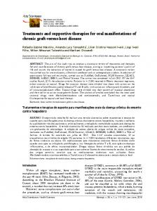 Treatments and supportive therapies for oral manifestations of chronic ...