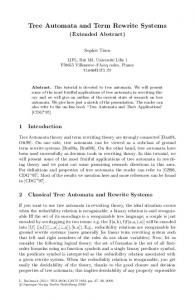 Tree Automata and Term Rewrite Systems
