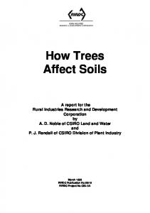 Tree effects on the soil