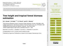 Tree height and tropical forest biomass estimation - Semantic Scholar