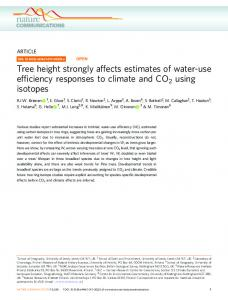 Tree height strongly affects estimates of water-use ...