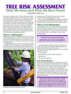 tree risk assessment - Urban Natural Resources Institute