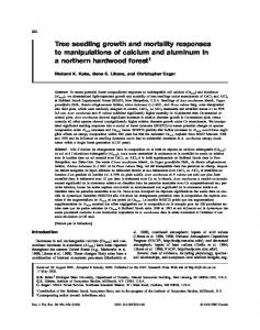Tree seedling growth and mortality responses to ... - Semantic Scholar